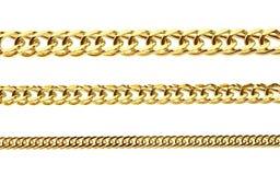 Gouden ketting Stock Foto's