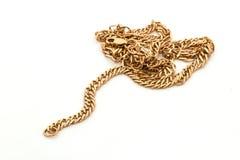 Gouden ketting Stock Afbeelding