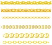 Gouden Ketting stock illustratie