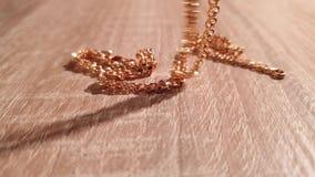 Gouden Ketting Gouden Juwelen goud stock videobeelden