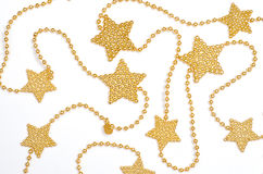 Gouden ketting met sterren Stock Afbeelding