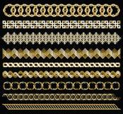 Gouden kettingen Royalty-vrije Stock Foto