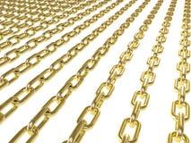 Gouden kettingen royalty-vrije illustratie