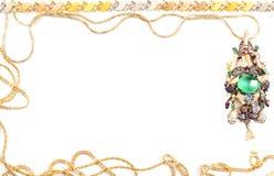 Gouden kettingen voor frame stock fotografie