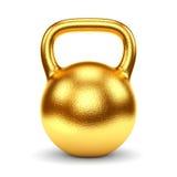 Gouden kettlebell Stock Afbeeldingen