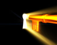 Gouden Key002 stock illustratie