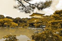 Gouden Kinkaku -kinkaku-ji Stock Afbeelding