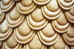Gouden kleuren abstract Naadloos patroon Stock Afbeelding