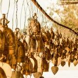 Gouden klokken Thailand stock fotografie