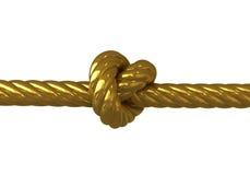 Gouden knoop Vector Illustratie