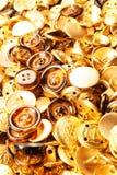 Gouden knopentextuur stock afbeeldingen