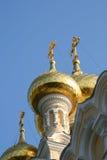 Gouden koepels Royalty-vrije Stock Afbeeldingen
