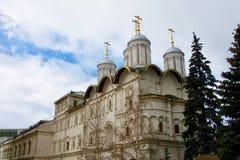 Gouden Koepels van het Kremlin in Rusland Royalty-vrije Stock Afbeelding