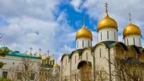 Gouden Koepels van het Kremlin in Rusland Royalty-vrije Stock Fotografie