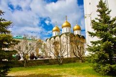 Gouden Koepels van het Kremlin in Rusland Stock Fotografie