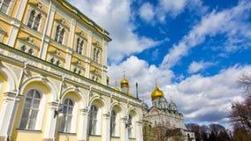 Gouden Koepels van het Kremlin in Rusland Royalty-vrije Stock Afbeeldingen