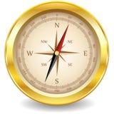 Gouden kompas Royalty-vrije Stock Foto