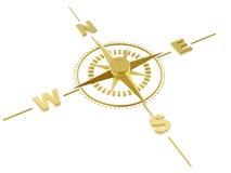 Gouden kompas Royalty-vrije Stock Afbeelding