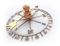 Gouden kompas Stock Foto
