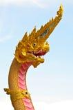 Gouden Koning van Nagas stock foto