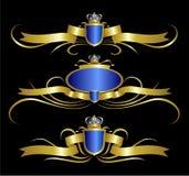 Gouden koninklijk ontwerpelement Royalty-vrije Stock Foto's