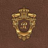 Gouden koninklijk wapenschild Royalty-vrije Stock Fotografie