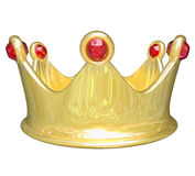 Gouden Koninklijke de Behandelingskoning Queen Prince Princess van de Kroon Hoogste Rij Royalty-vrije Stock Foto's