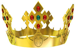 Gouden koninklijke kroon Stock Afbeeldingen