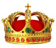 Gouden koninklijke kroon Stock Foto's