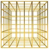 Gouden kooi Royalty-vrije Stock Fotografie