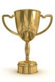 Gouden kop van de winnaar. Stock Foto