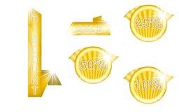 Gouden korting Royalty-vrije Stock Afbeeldingen