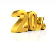 Gouden korting 20 Stock Fotografie