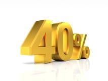 Gouden korting 40 Stock Foto