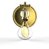 Gouden kraan met het gouden muntstukken vallen Stock Foto