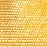 Gouden krabbel met de hand gemaakte abstracte achtergrond Royalty-vrije Stock Fotografie