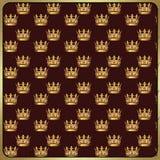 Gouden kroon uitstekend patroon Royalty-vrije Stock Foto