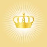 Gouden kroonconcept Royalty-vrije Stock Afbeeldingen