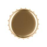 Gouden kroonkurk royalty-vrije stock afbeeldingen