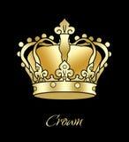 Gouden kroonwijnoogst stock illustratie