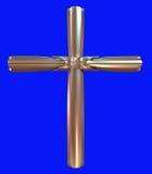 Gouden kruis Royalty-vrije Stock Afbeeldingen