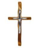 Gouden kruis stock illustratie