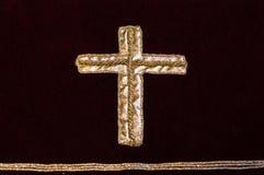 Gouden kruis Stock Foto's