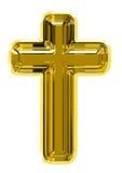 Gouden kruis royalty-vrije stock foto