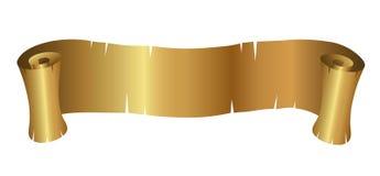Gouden Krullende Banner Royalty-vrije Stock Afbeelding