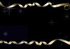 Gouden krullende linten Stock Foto's