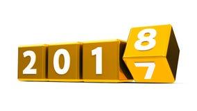 Gouden kubussen 2018 Royalty-vrije Stock Fotografie