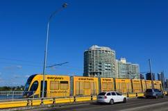 Gouden Kust Licht Spoor G - Queensland Australië Stock Foto's