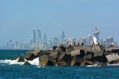 Gouden Kustzeeweg - Queensland Australië Stock Afbeelding