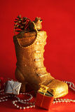 Gouden laars Stock Afbeeldingen